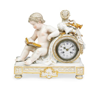 A MEISSEN CLOCK-CASE