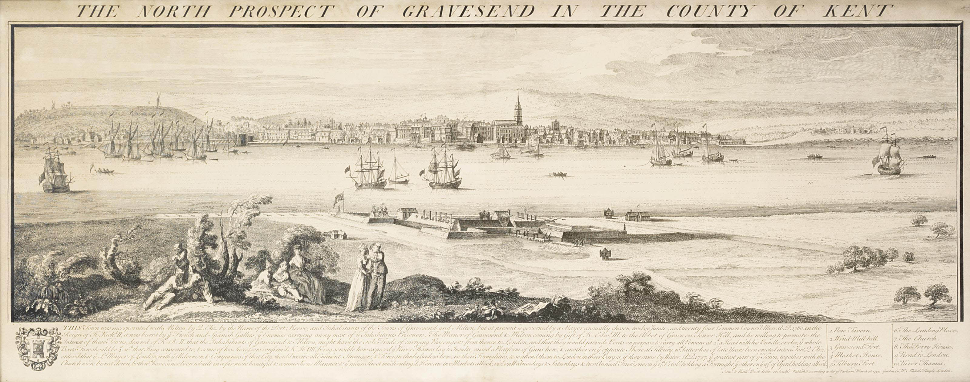 The North-West Prospect of Deptford, in the County of Kent; The North-West Prospect of Greenwich, in the County of Kent; The North Prospect of Gravesend, in the County of Kent; The North Prospect of Woolwich, in the County of Kent; and The North West Prospect of Sheerness, in the County of Kent
