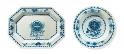 A DELFTWARE BLUE AND WHITE SER