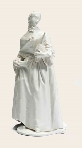 A NYMPHENBURG WHITE FIGURE OF DONNA MARTINA