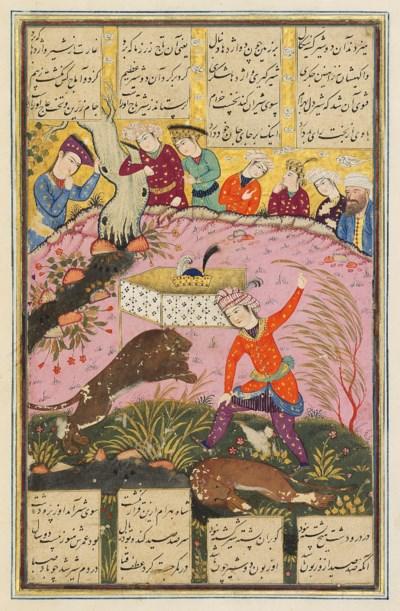 BAHRAM KILLS TWO LIONS TO CLAI
