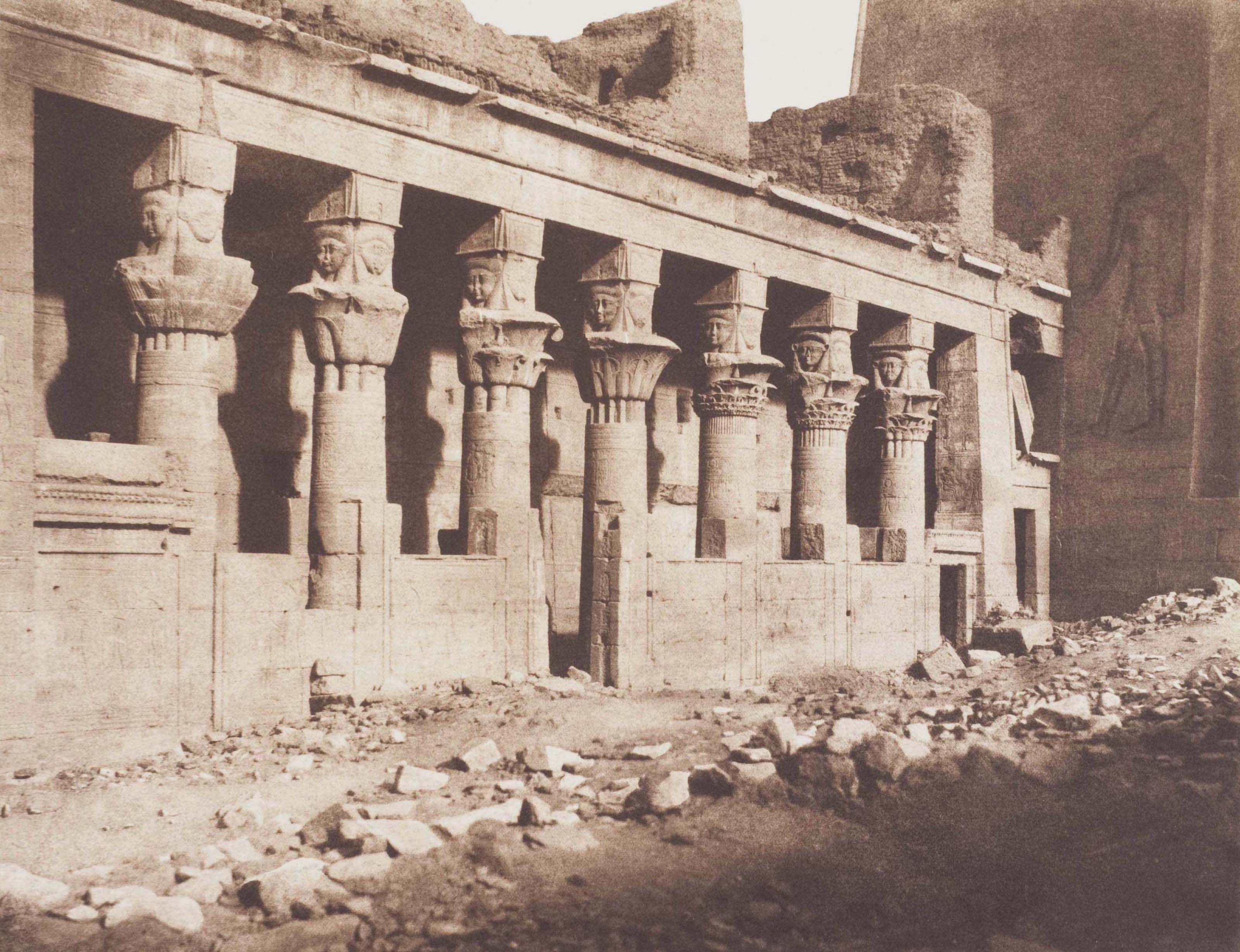 Nubie: Ile de Fîleh (Philae), Temple de l'Ouest - Face Orientale Vue du Point, 1852