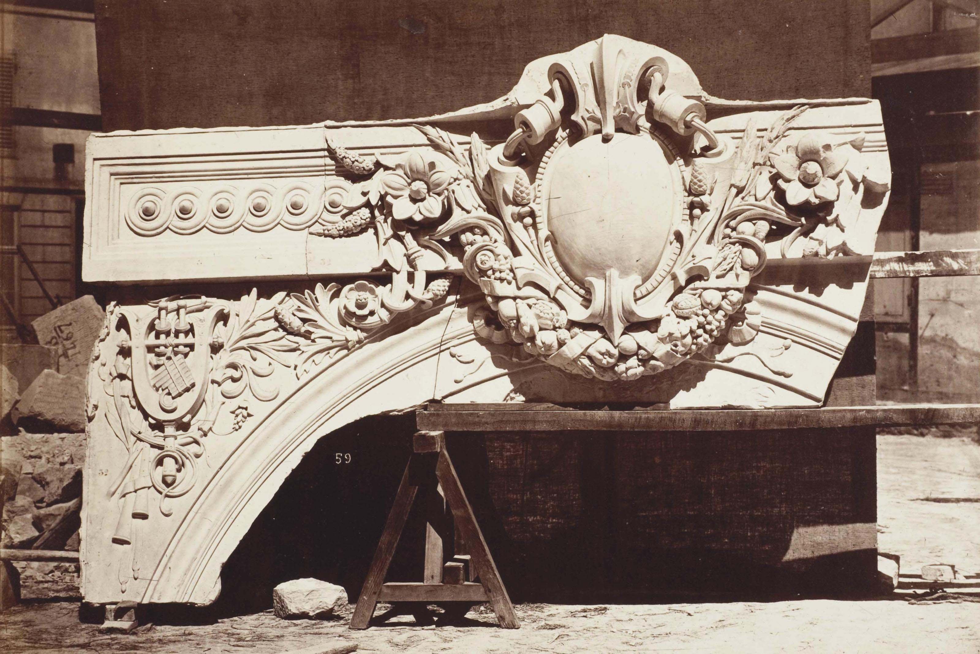 Le Nouvel Opéra de Paris, Sculpture Ornamentale, circa 1870