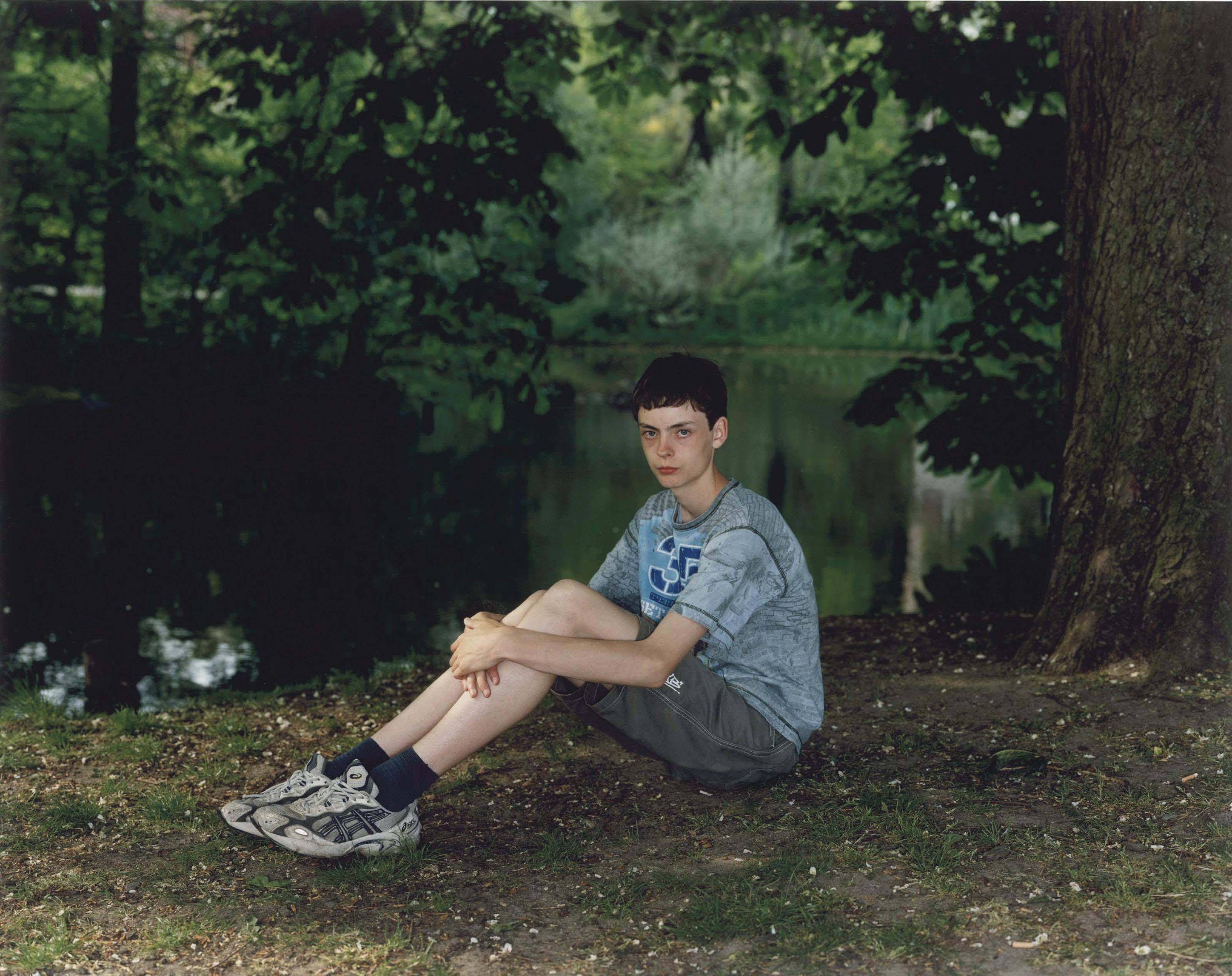 Teenage boy in Vondelpark, Amsterdam, The Netherlands, May 12, 2006