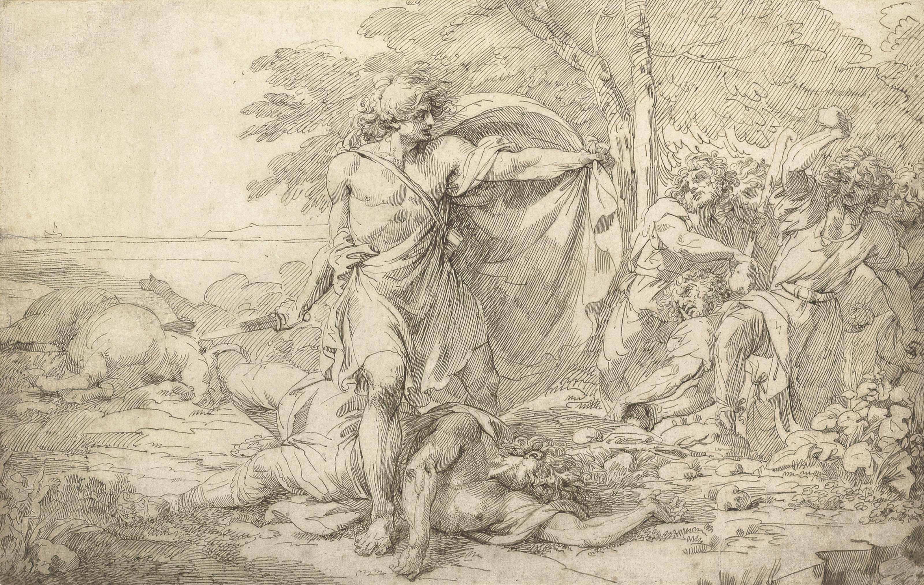 A classical subject: possibly the aftermath of a battle