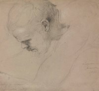 Study for the head of Lazarus in 'The Entrance of Christ into Jerusalem'