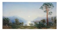 The Highlanders' Burying Ground, on a small Island in Loch Maree, North Britain - Moonlight Evening