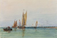 On the Scheldt, Holland (recto); and A pencil sketch (verso)