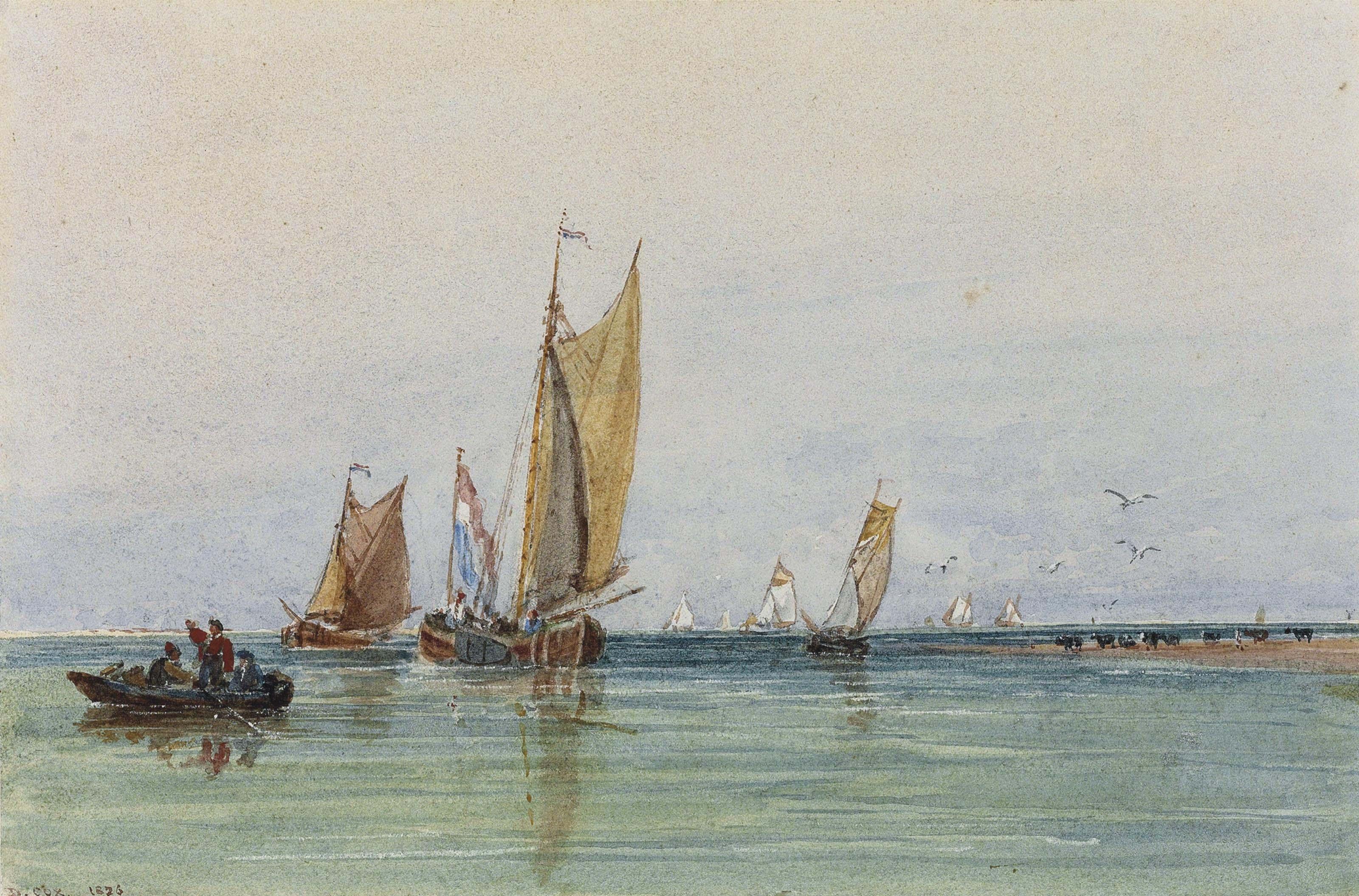On the Scheldt, Holland (recto); and A pencil sketch (verso)