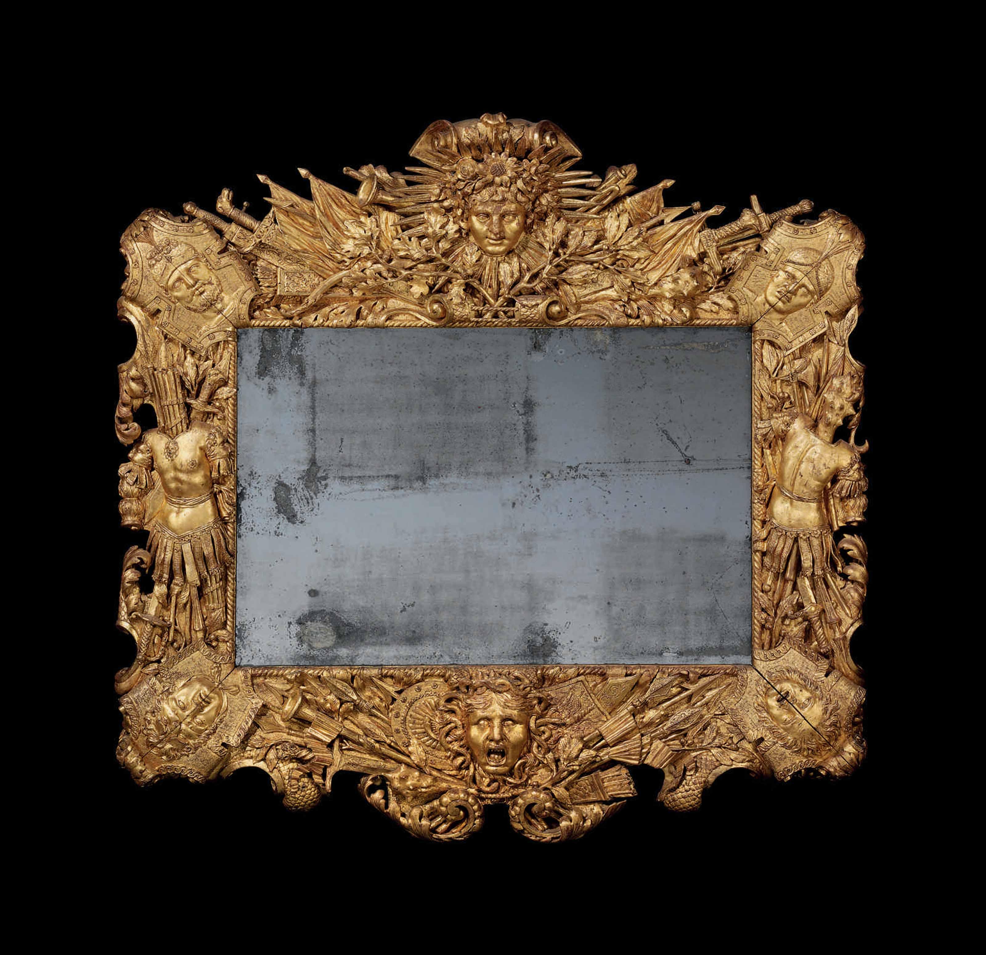 A LOUIS XIV GILTWOOD FRAME