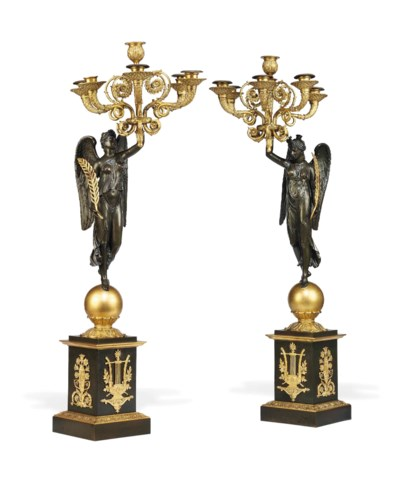 A PAIR OF FRENCH  GILT AND PAT