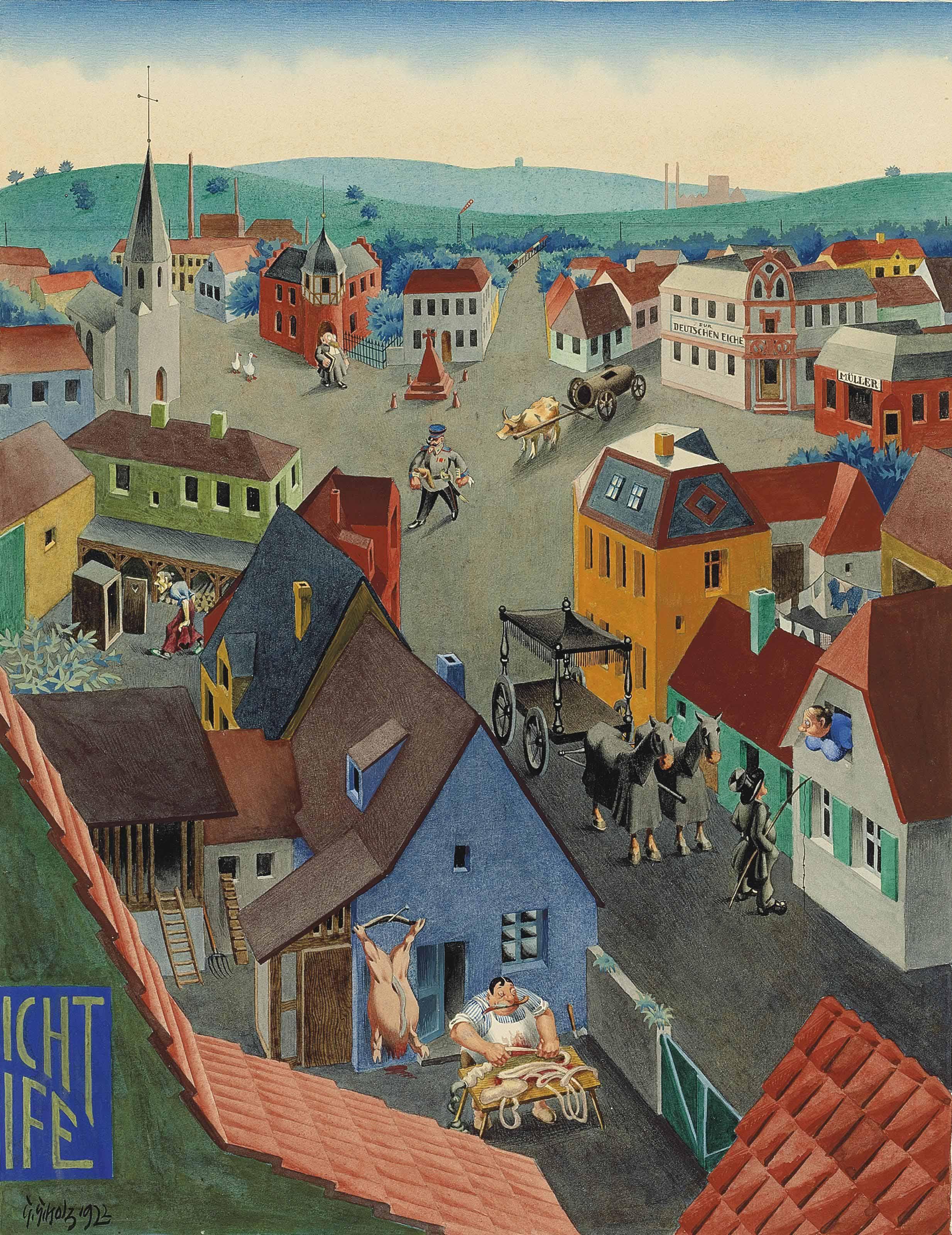 Deutsche Kleinstadt bei Tage