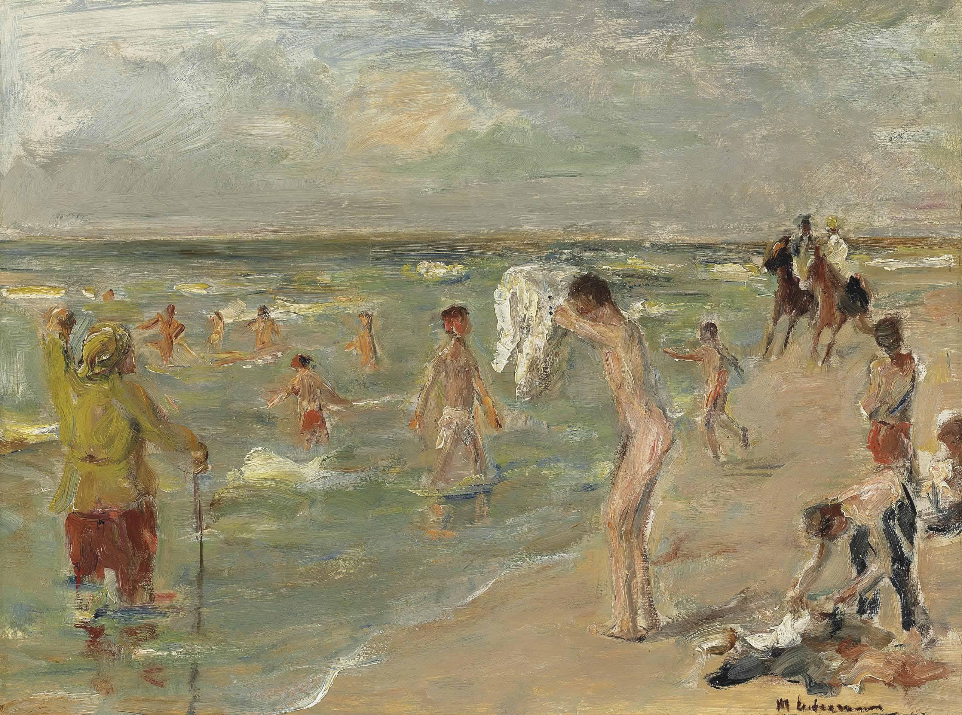Badende Knaben, Jungen in Zandvoort