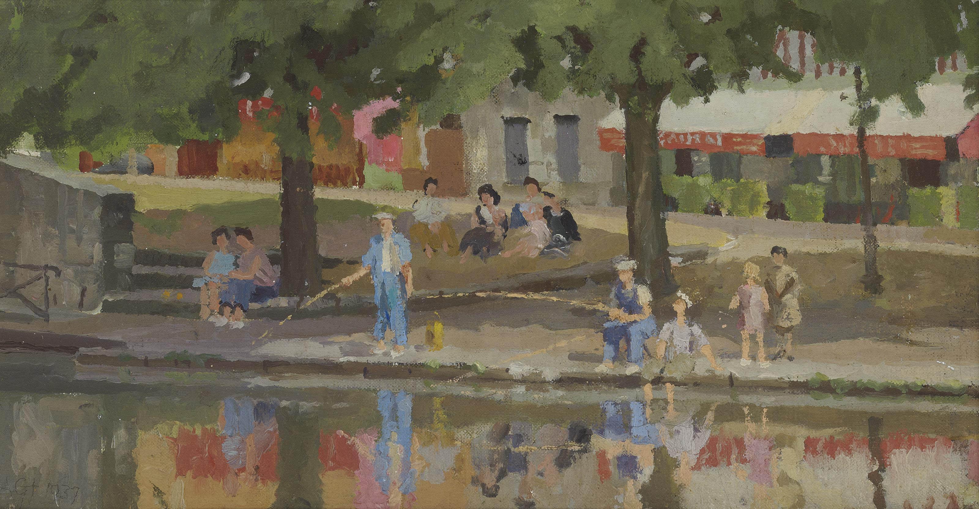 Boys Fishing, Briare sur Loire