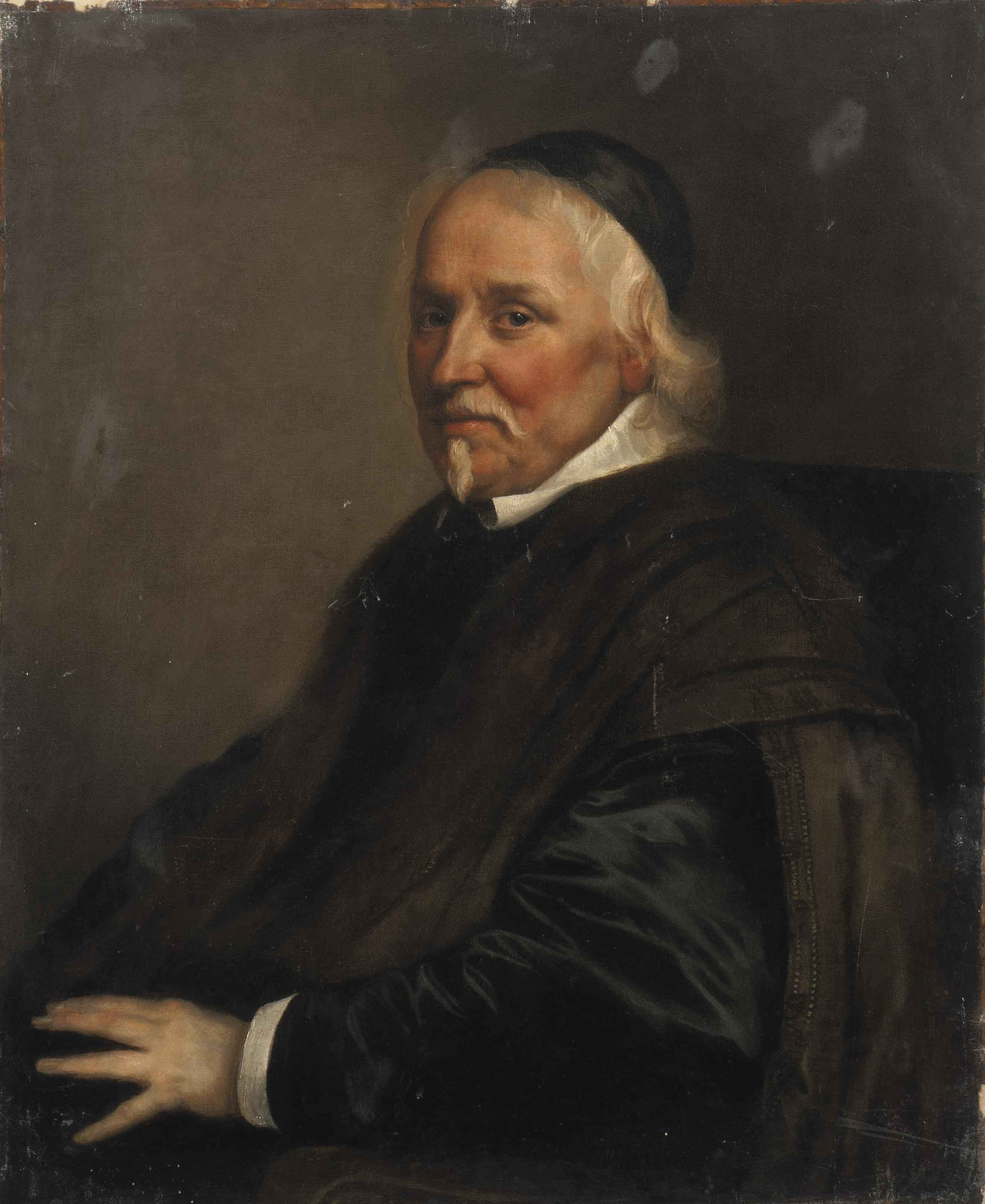 Portrait of a cleric, half-length, seated