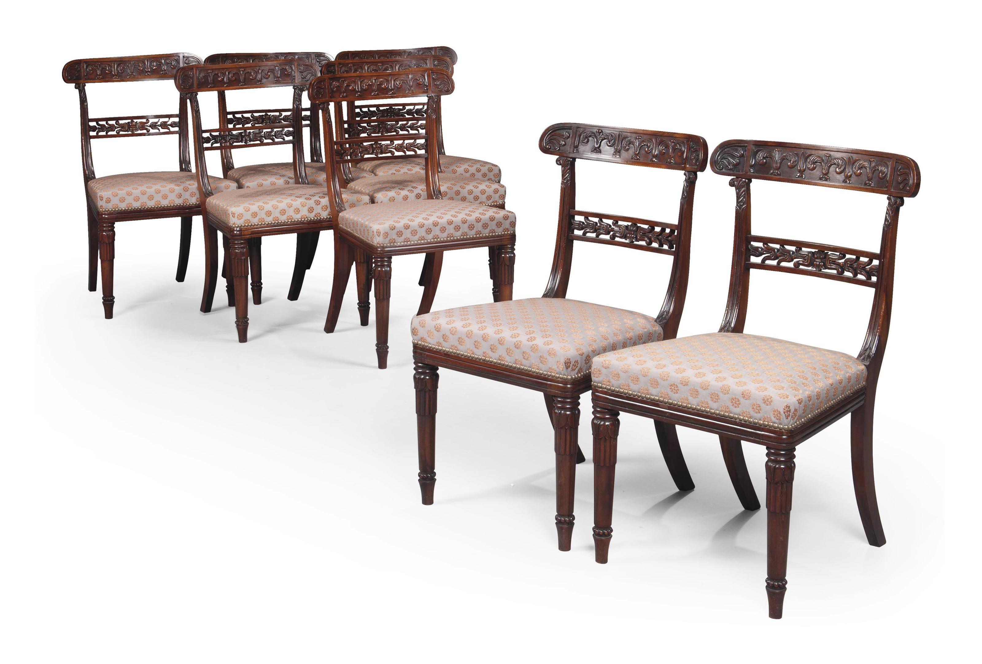 A SET OF EIGHT REGENCY GONCALO