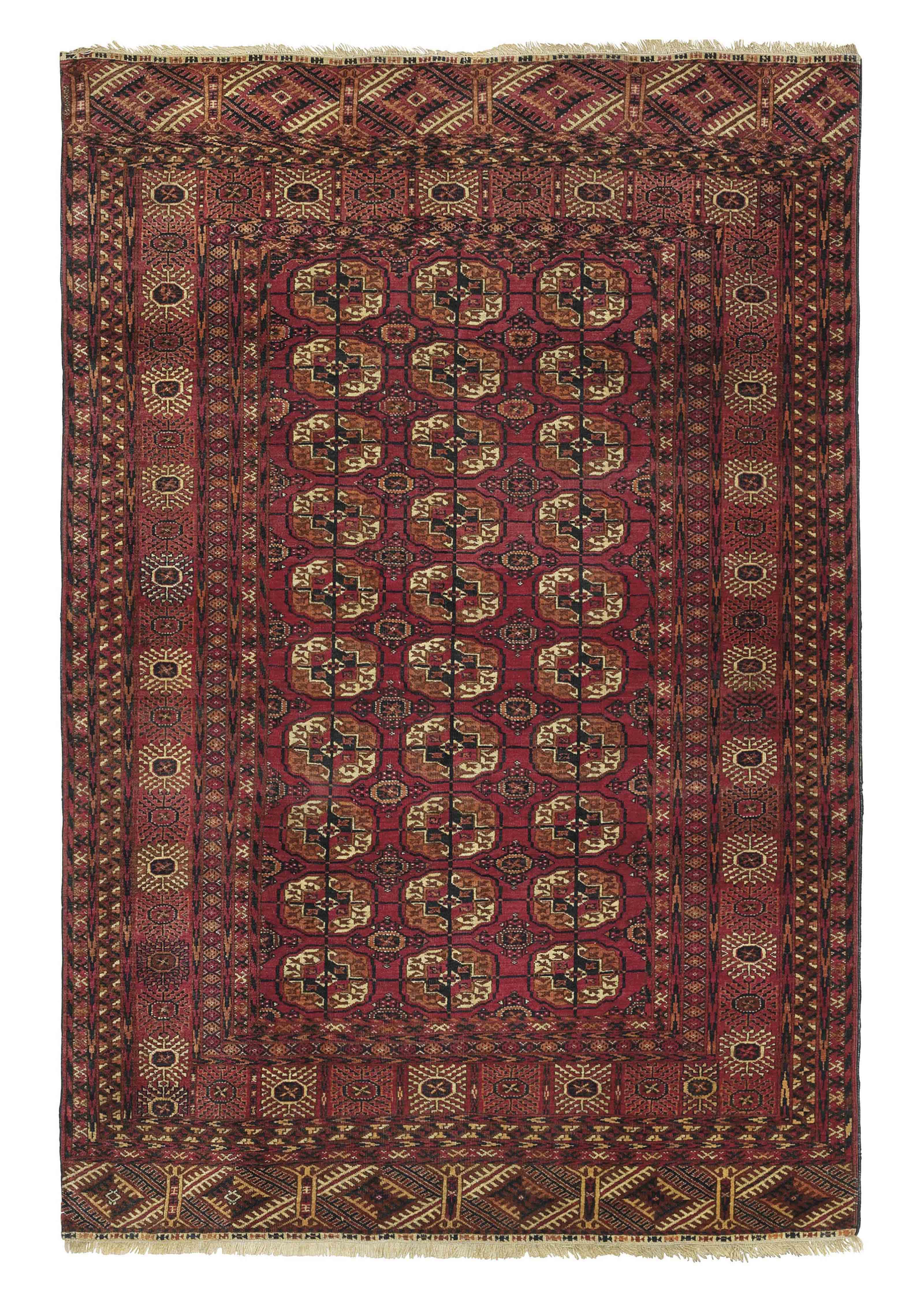 A Bokhara large rug & Yomut ru