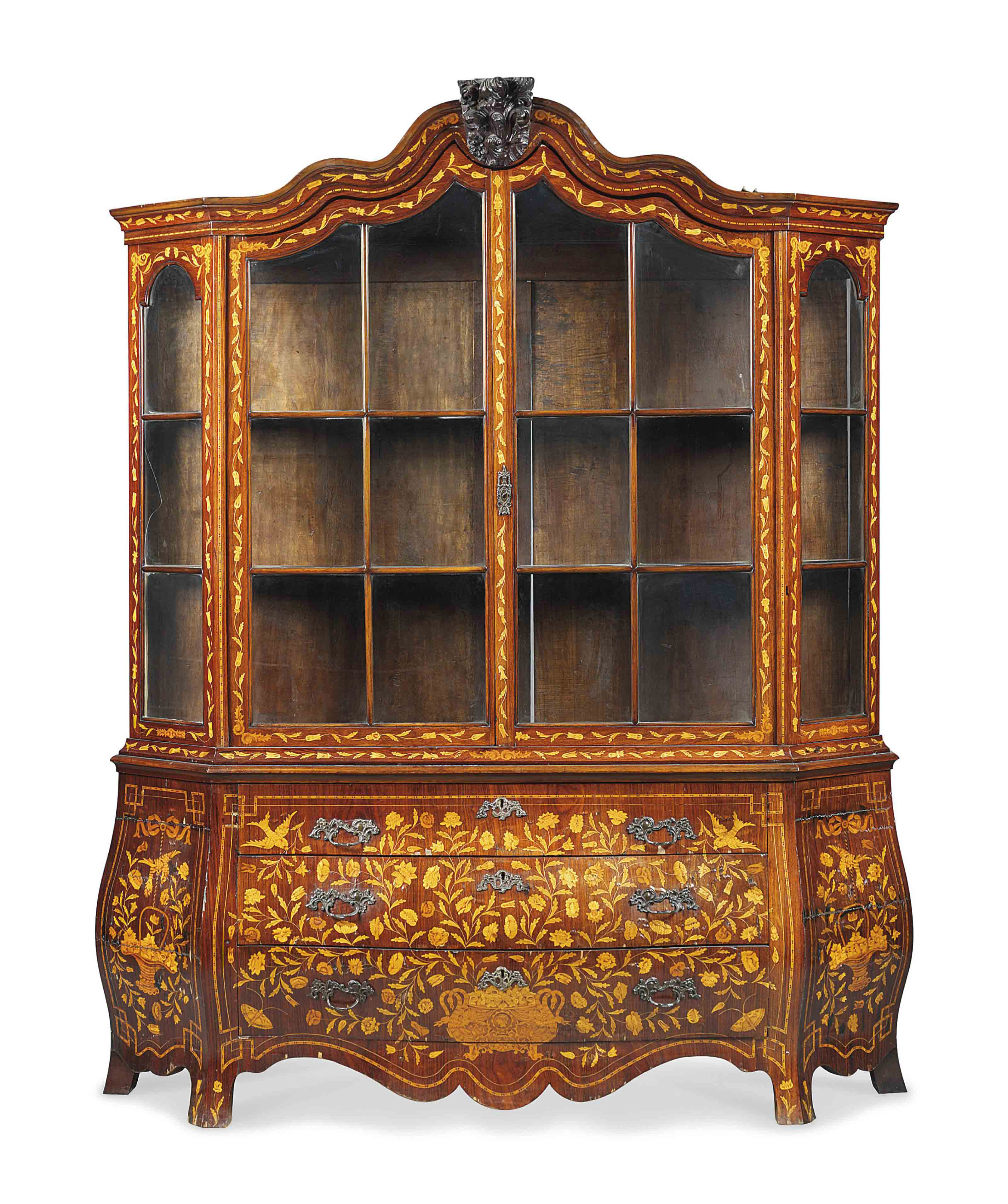 A DUTCH KINGWOOD AND MARQUETRY