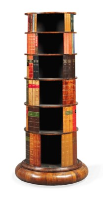 AN ENGLISH ROSEWOOD REVOLVING