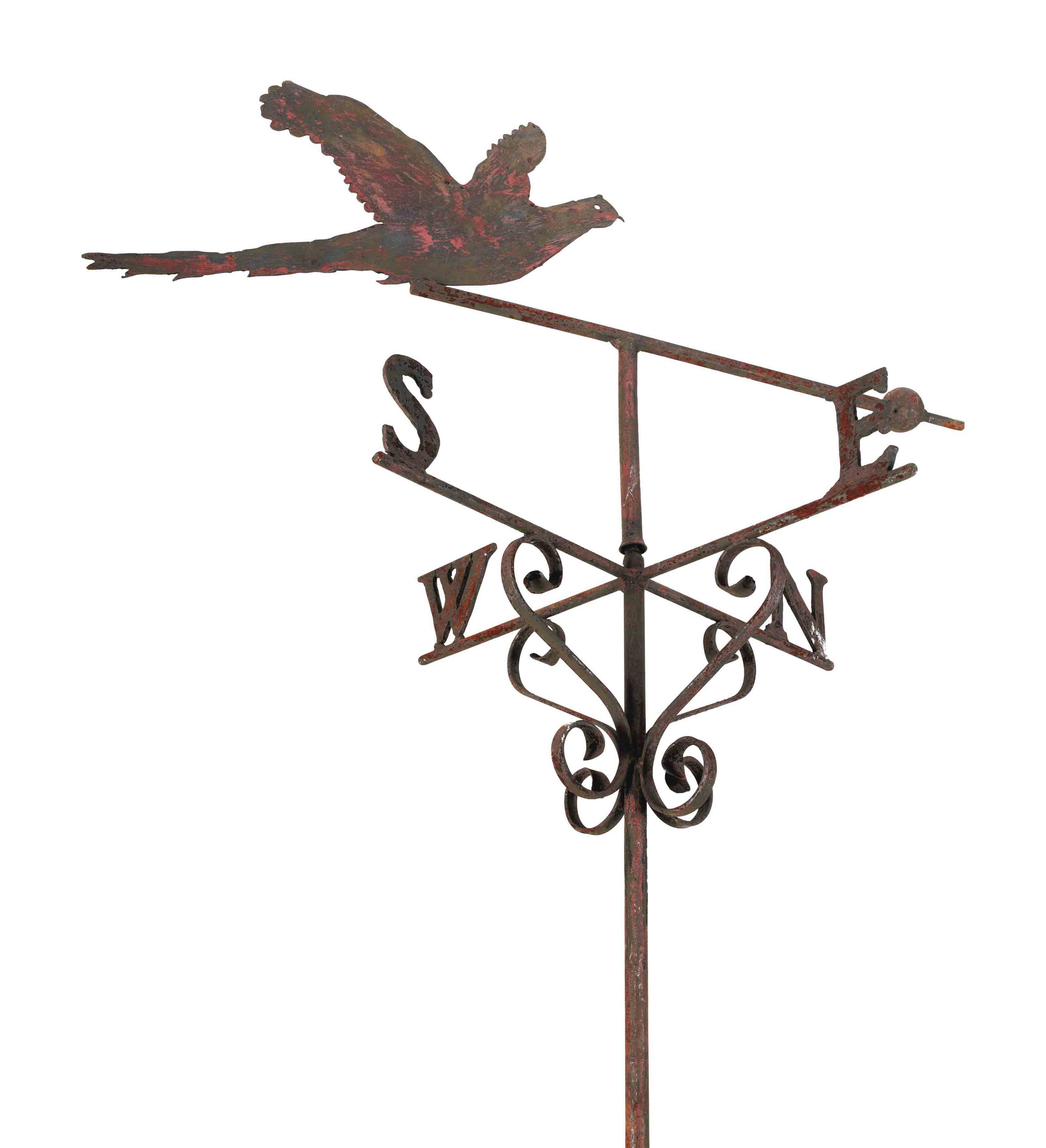 A WROUGHT-IRON WALL-MOUNTED WE