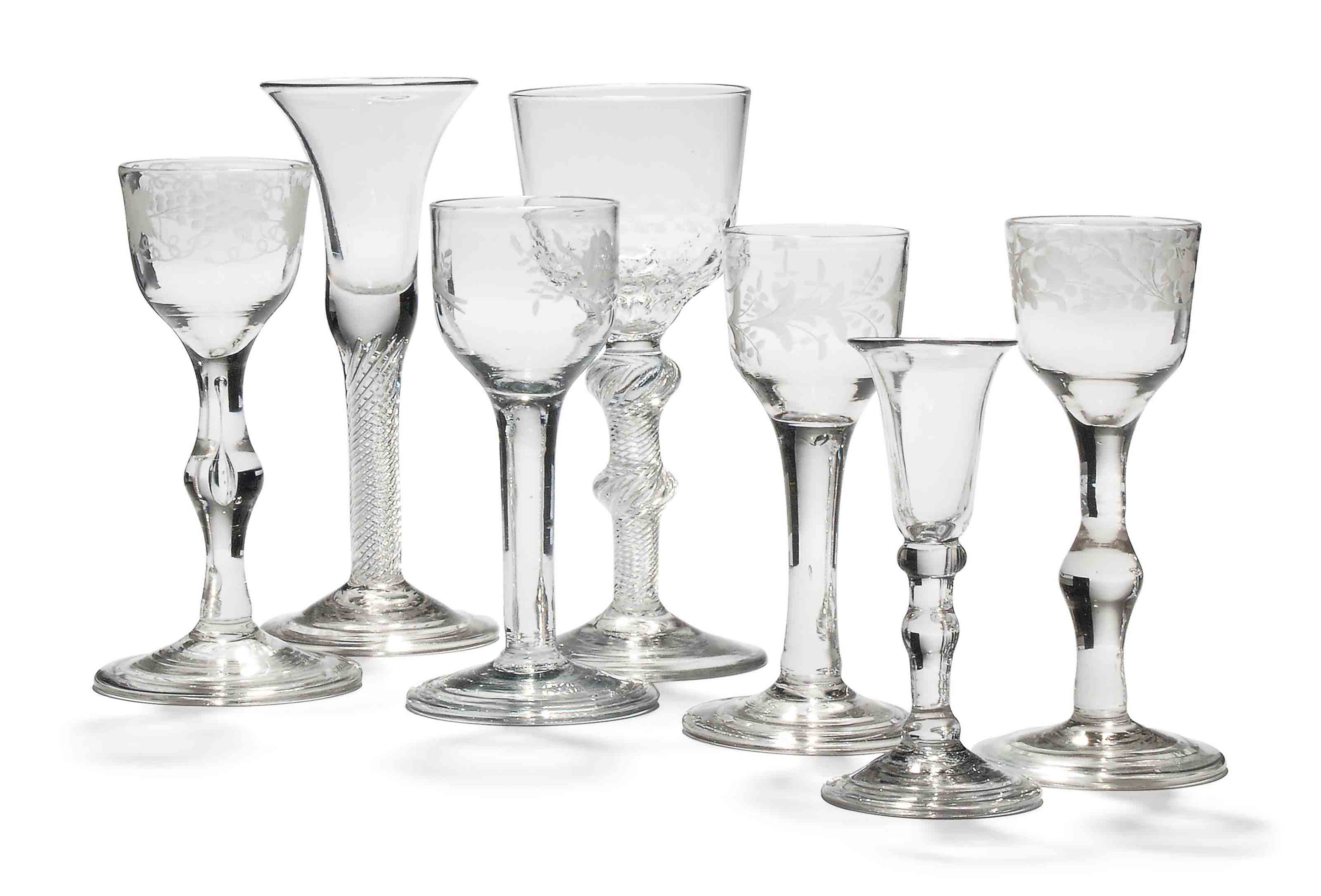 SEVEN DRINKING GLASSES