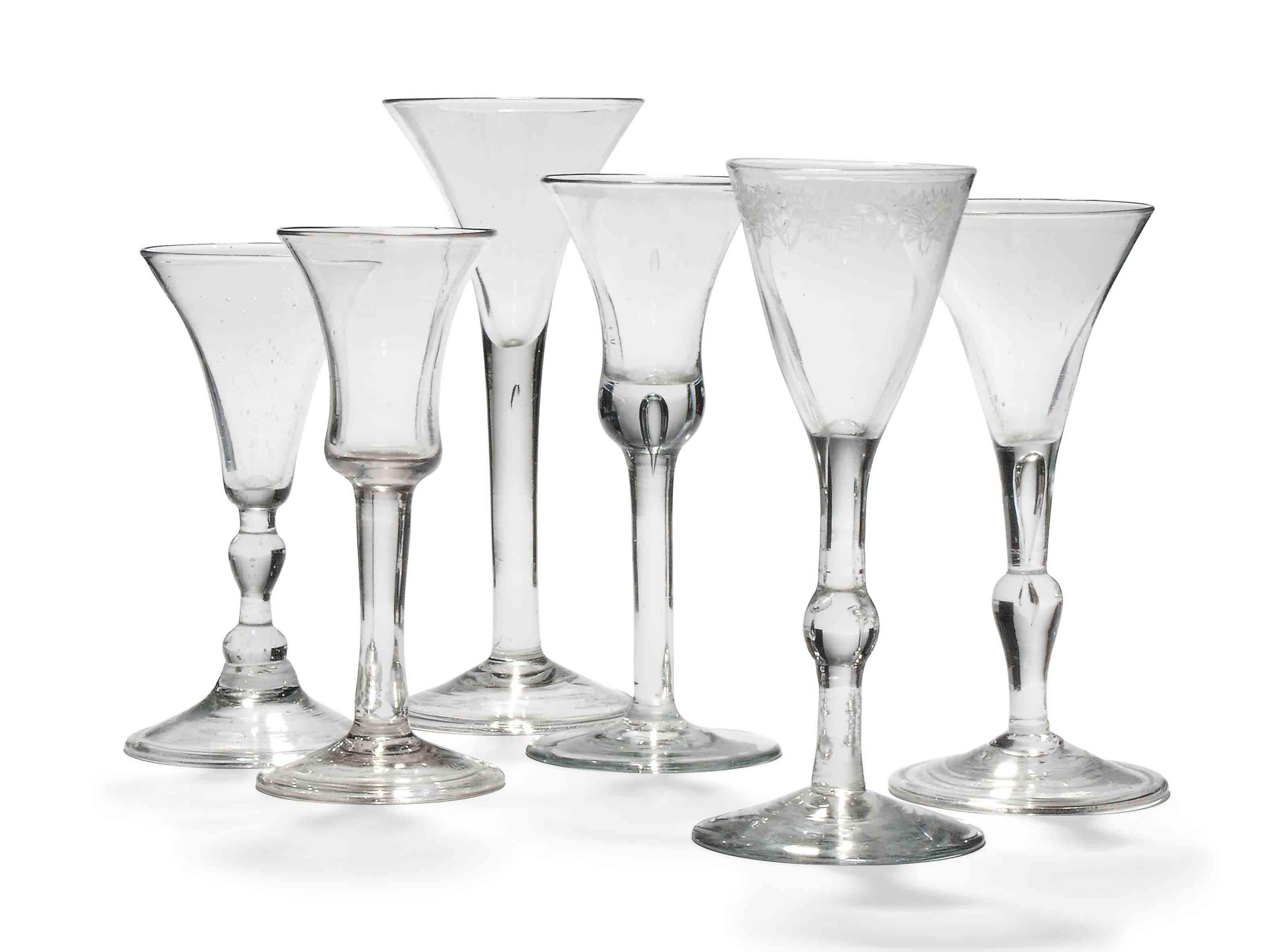 SIX WINE GLASSES