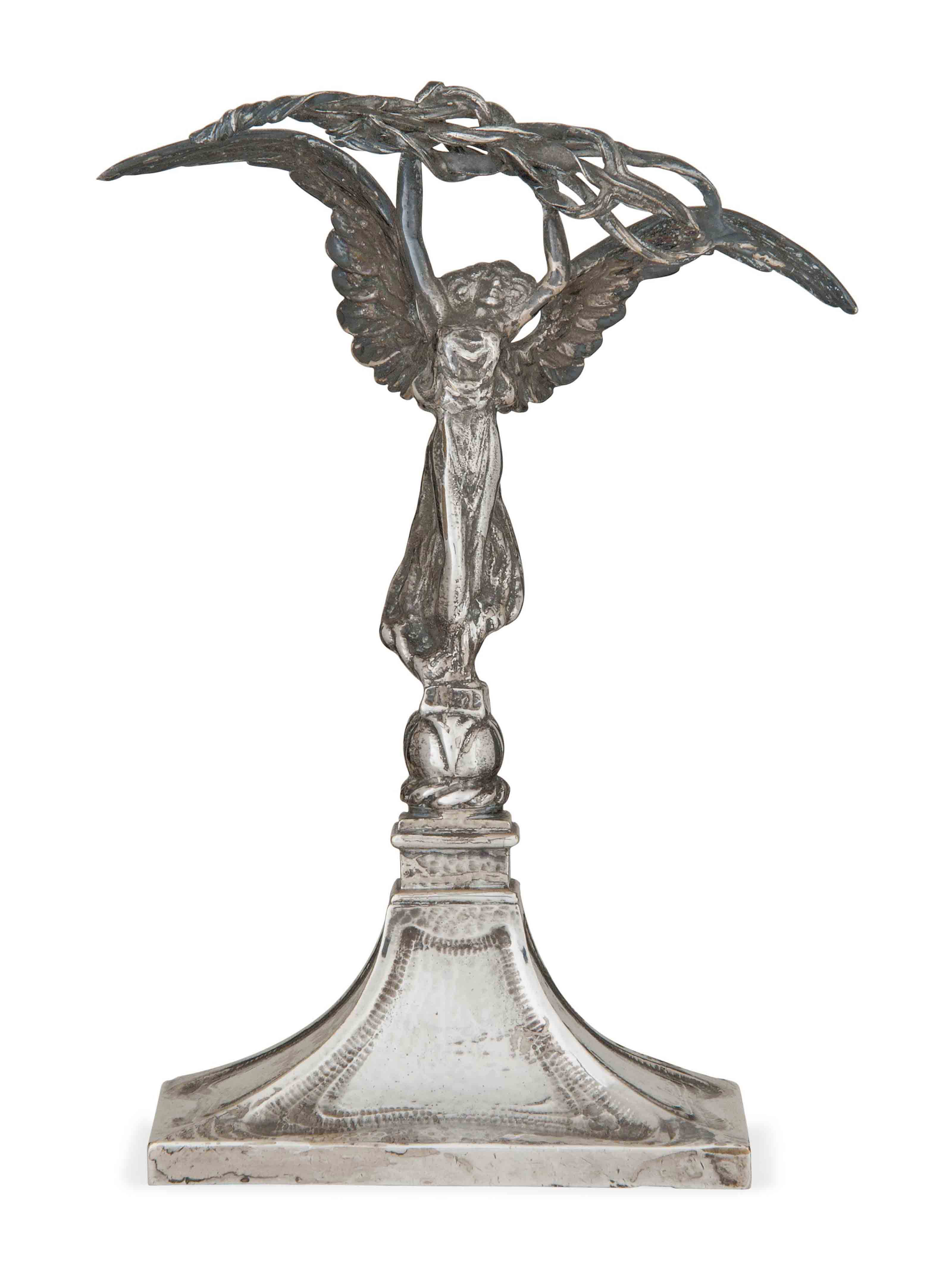 AN ARTS AND CRAFTS SILVER-PLAT