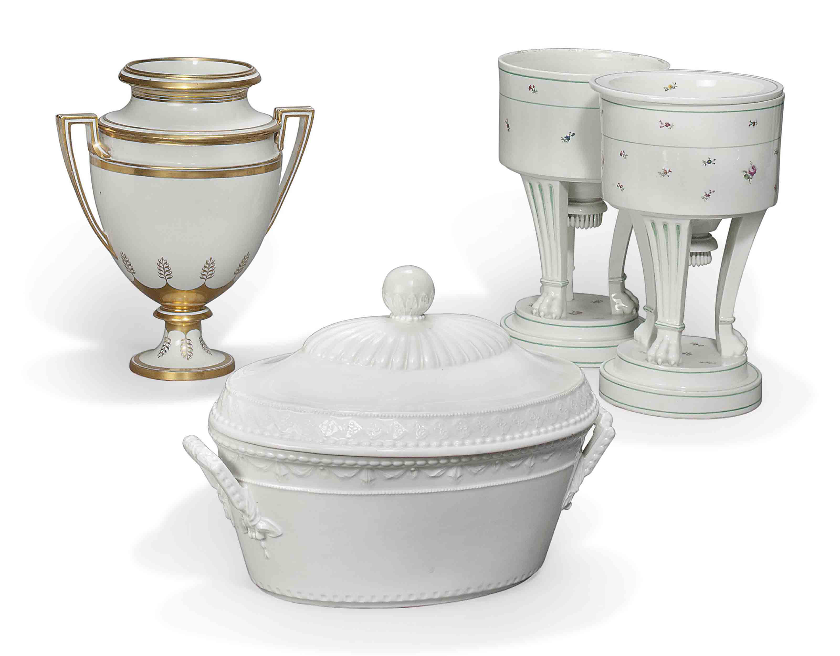 A PAIR OF VIENNA ICE-PAILS, AN