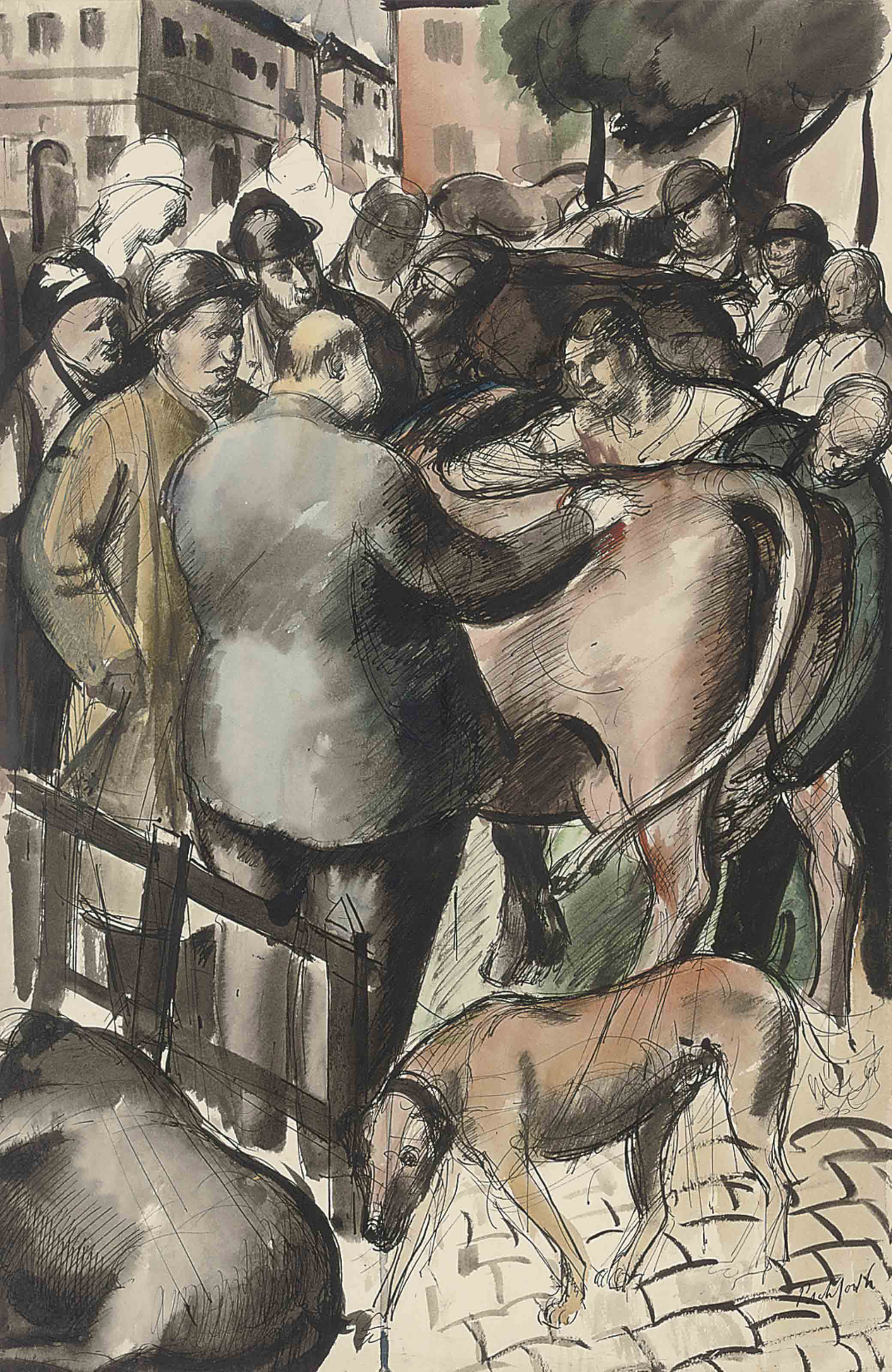 The cattle market