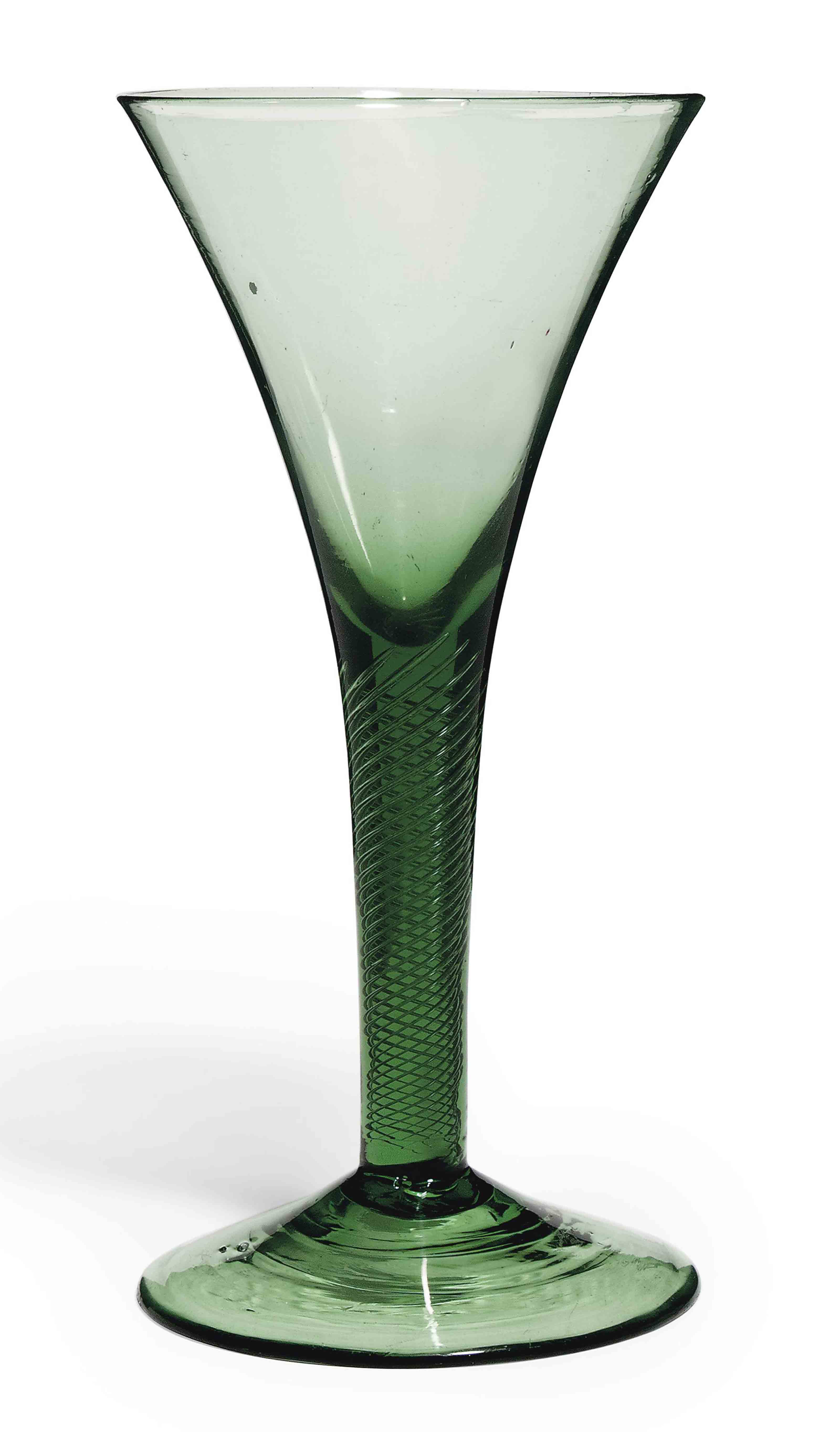 A GREEN-TINTED WINE GLASS