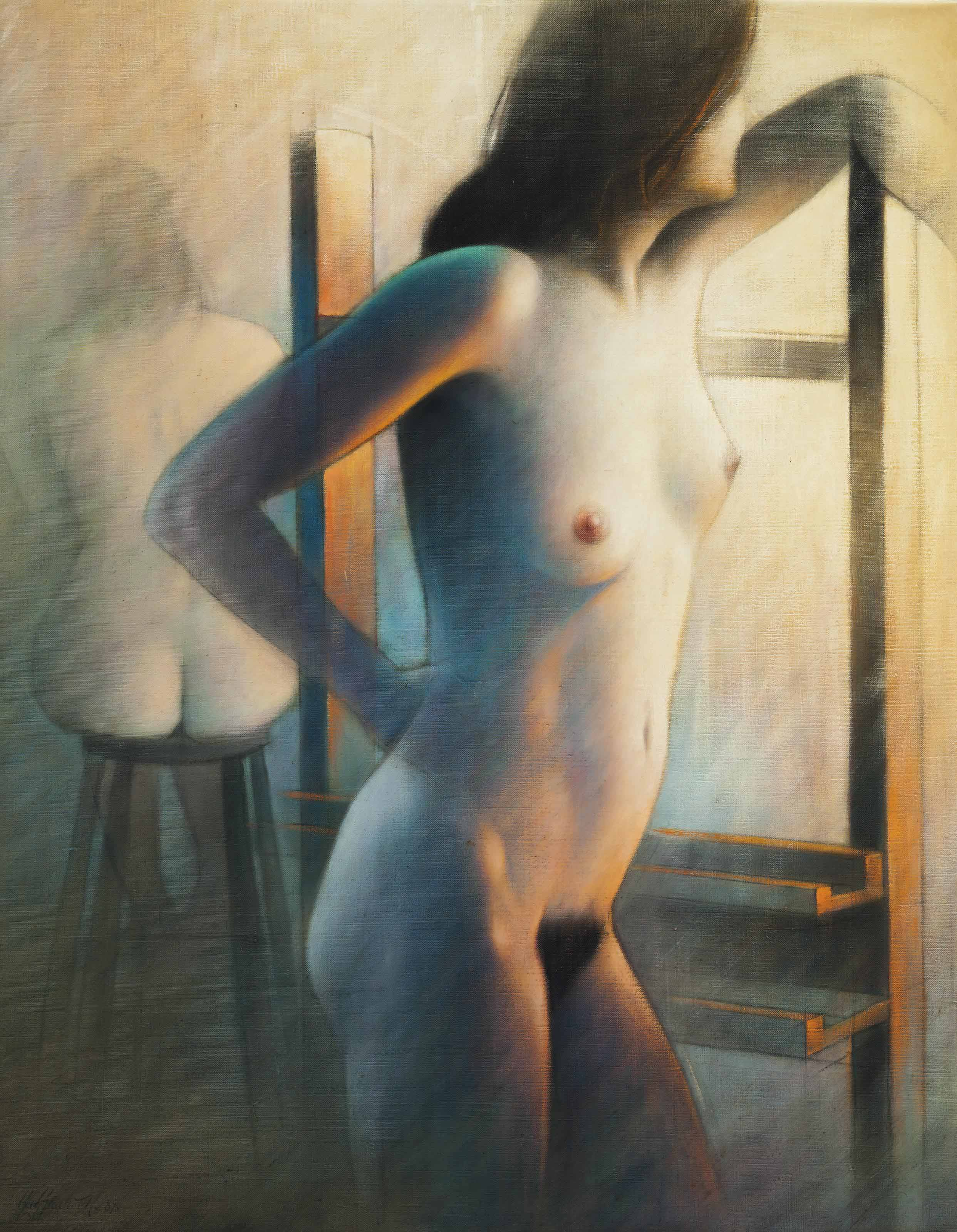 Nude study from two views
