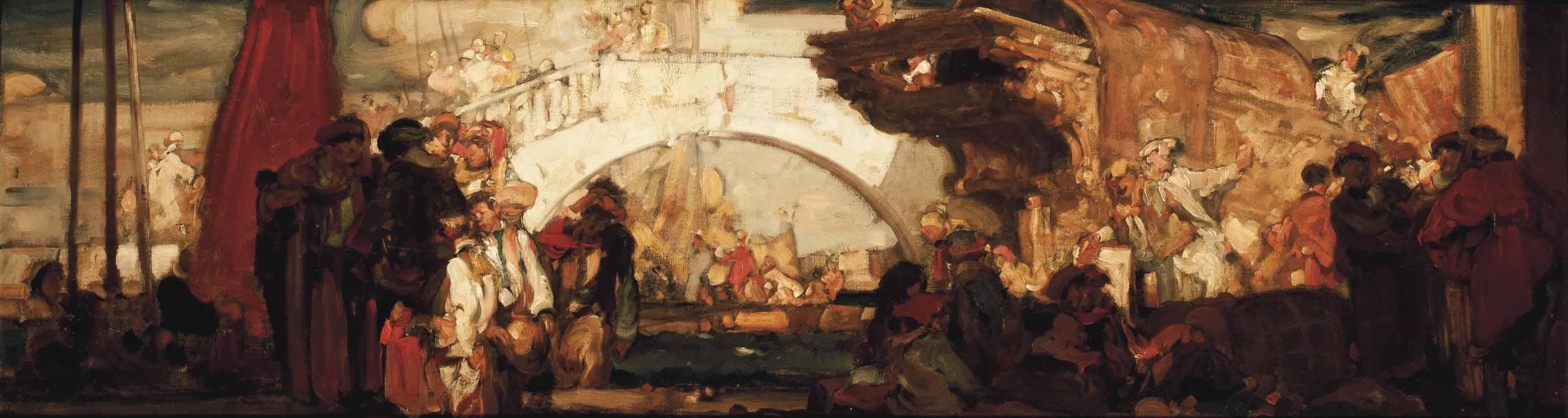 Marco Polo's arrival in Venice