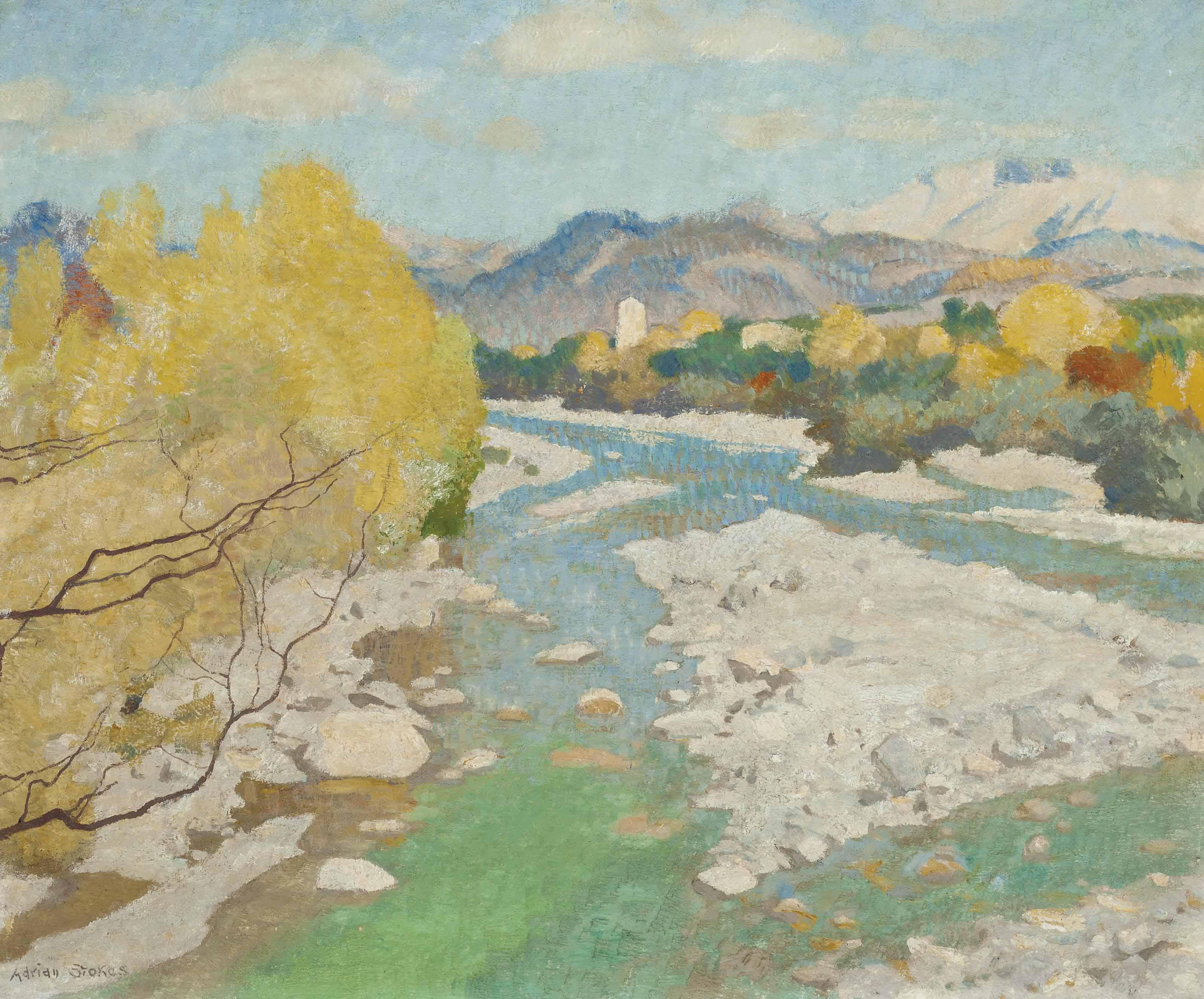River landscape, France