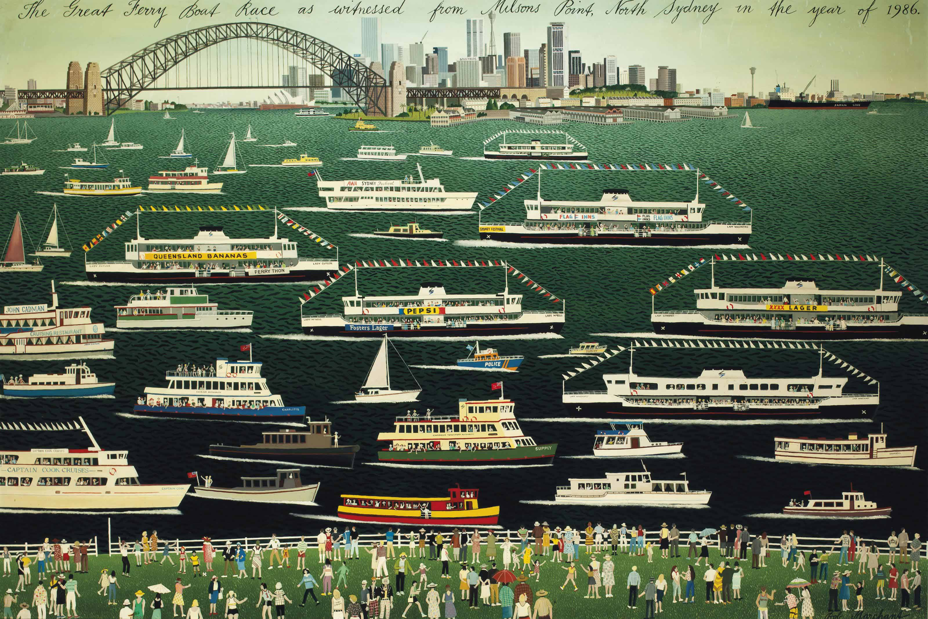The Great Ferry Boat Race as witnessed from Milson's Point, North Sydney in the year of 1986