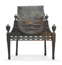 A GEORGE III CAST IRON FIREGRATE