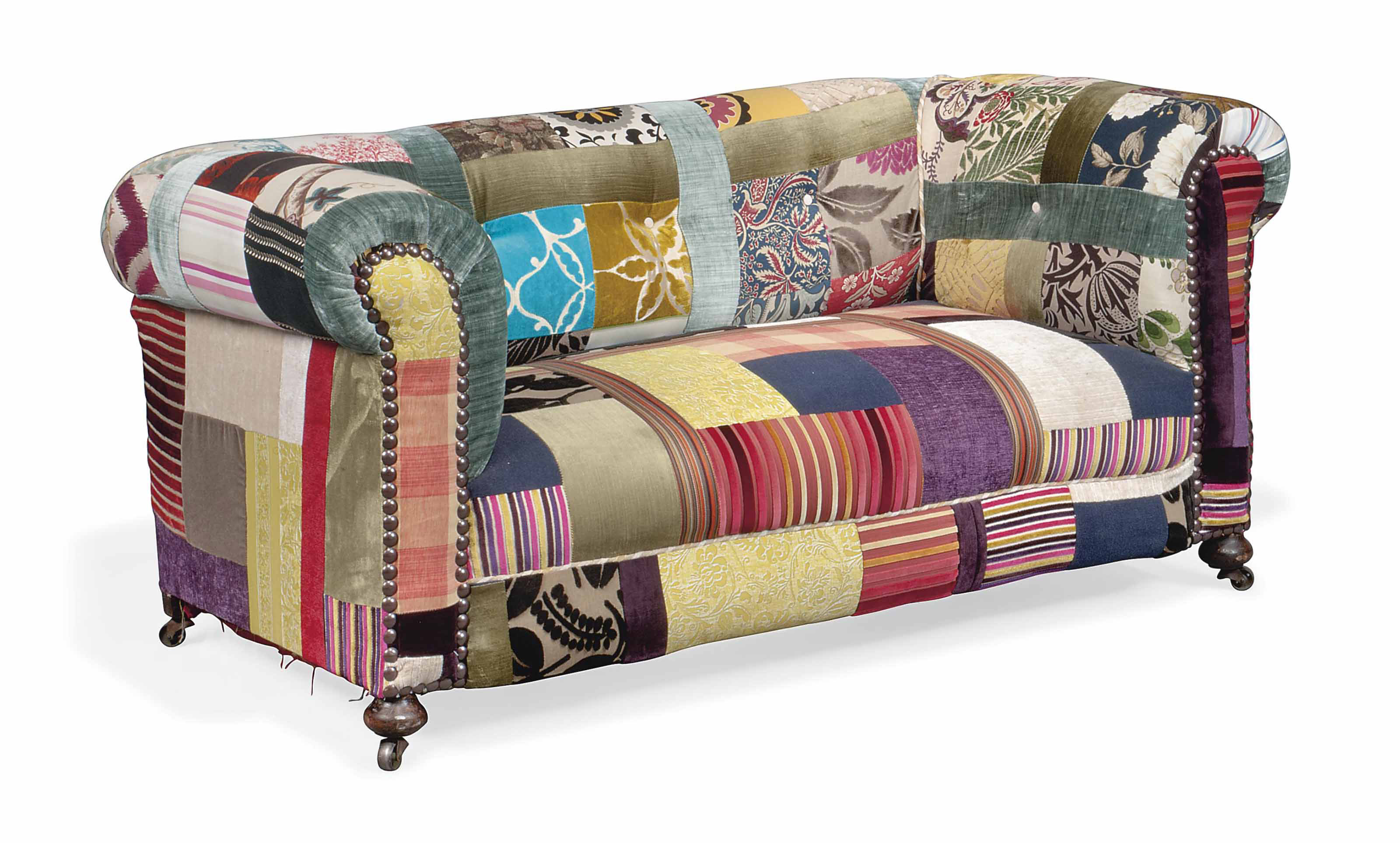 A SMALL CHESTERFIELD SOFA