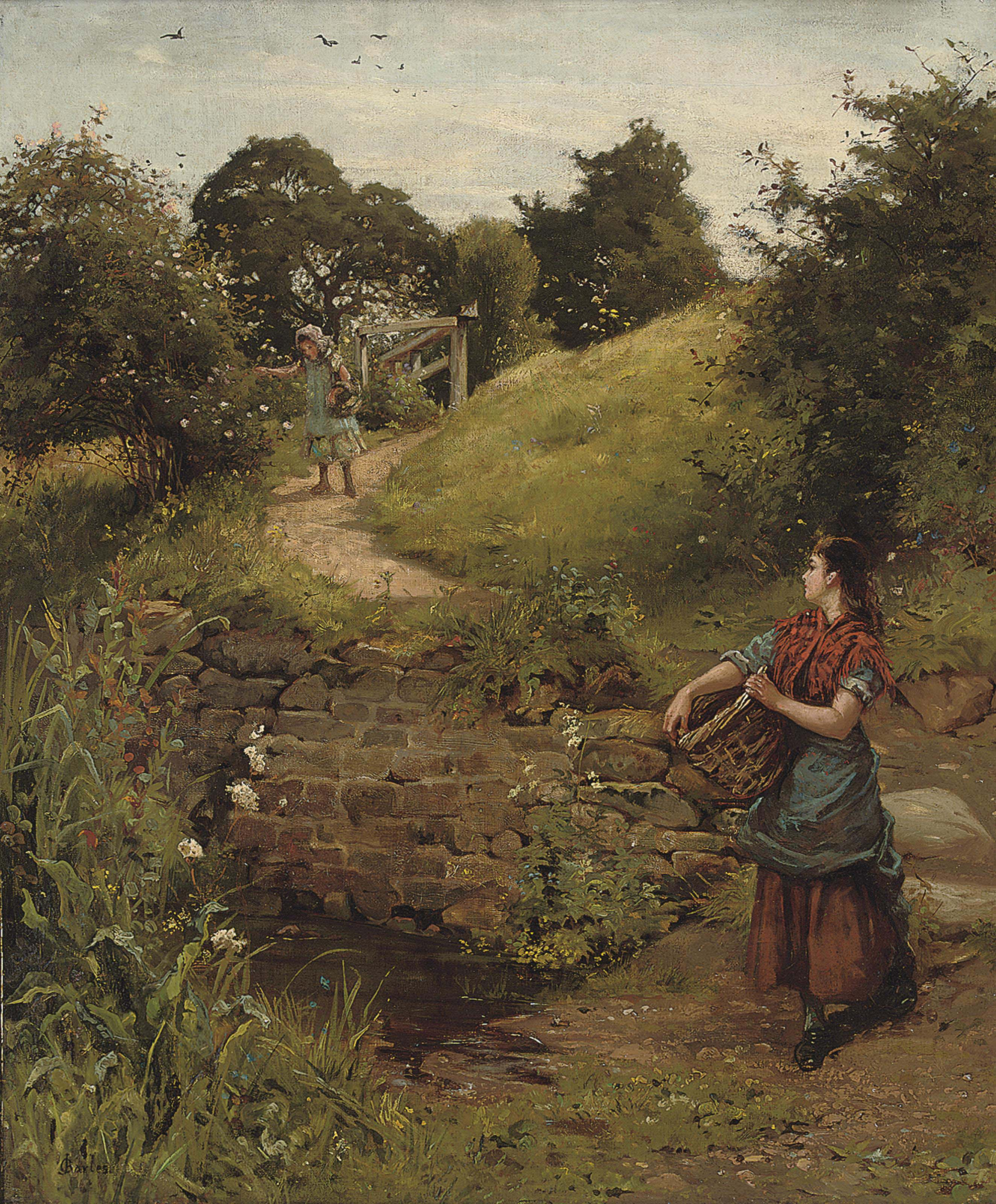 The path to the brook