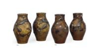 A Fine Pair of Bronze Vases