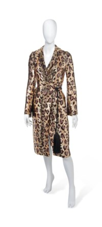 A FAUX-LEOPARD SEQUINNED COAT