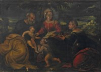 The Holy Family with Infant Saint John the Baptist and Saint Catherine of Alexandria
