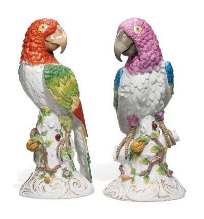 A PAIR OF MEISSEN-STYLE LARGE