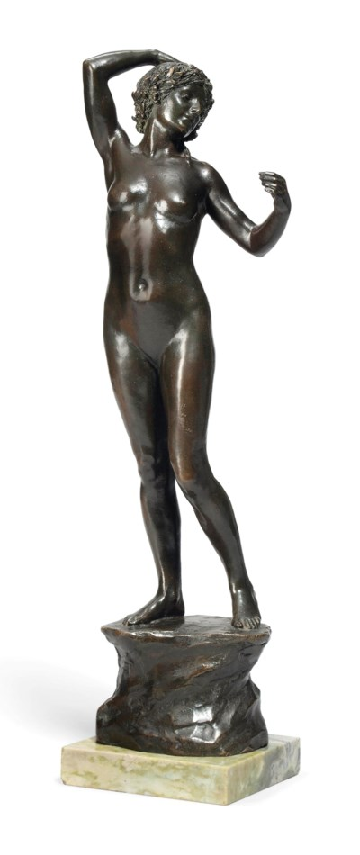 AN ENGLISH BRONZE MODEL OF A F