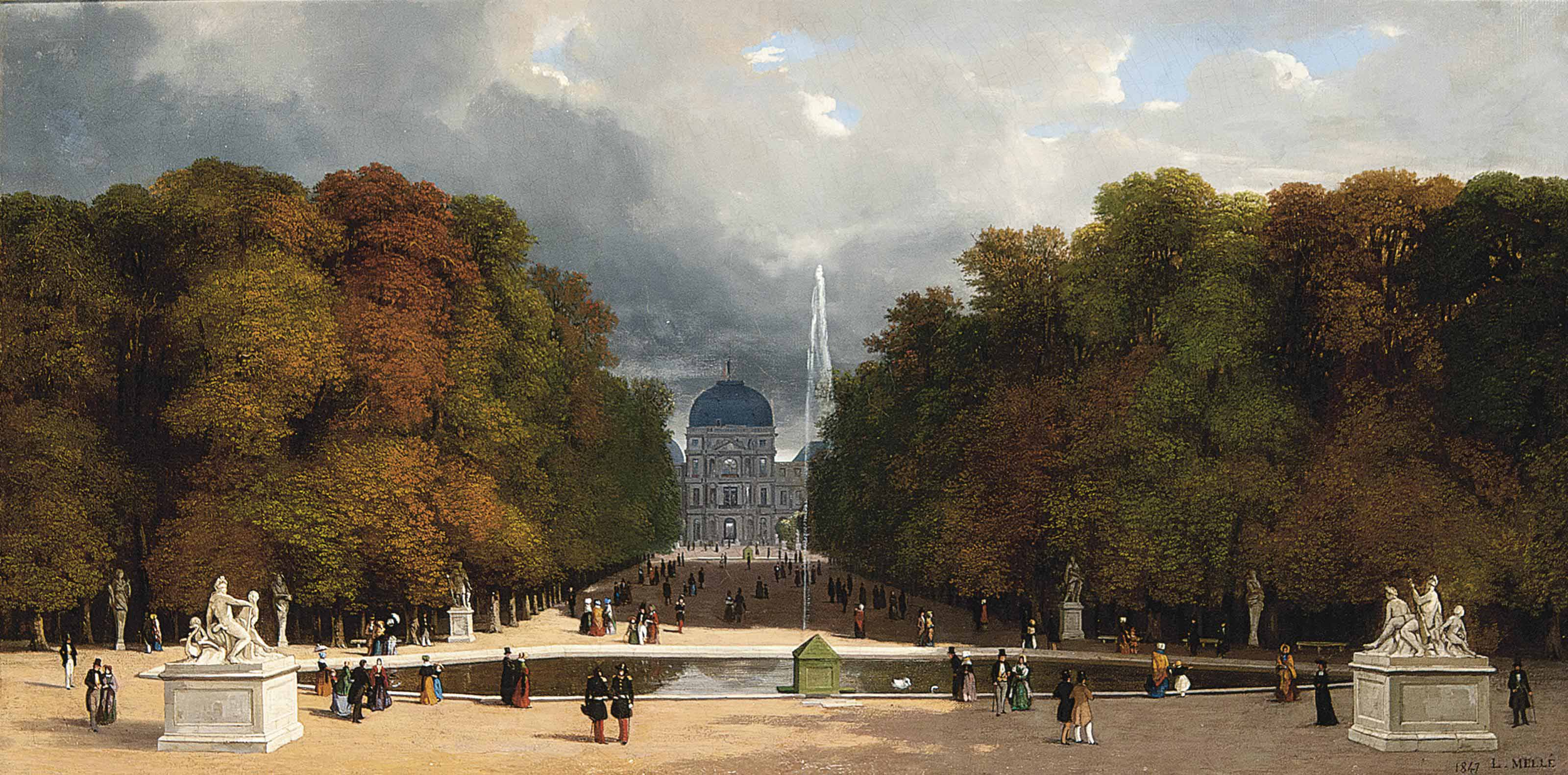 Promenading at the Tuilleries, Paris