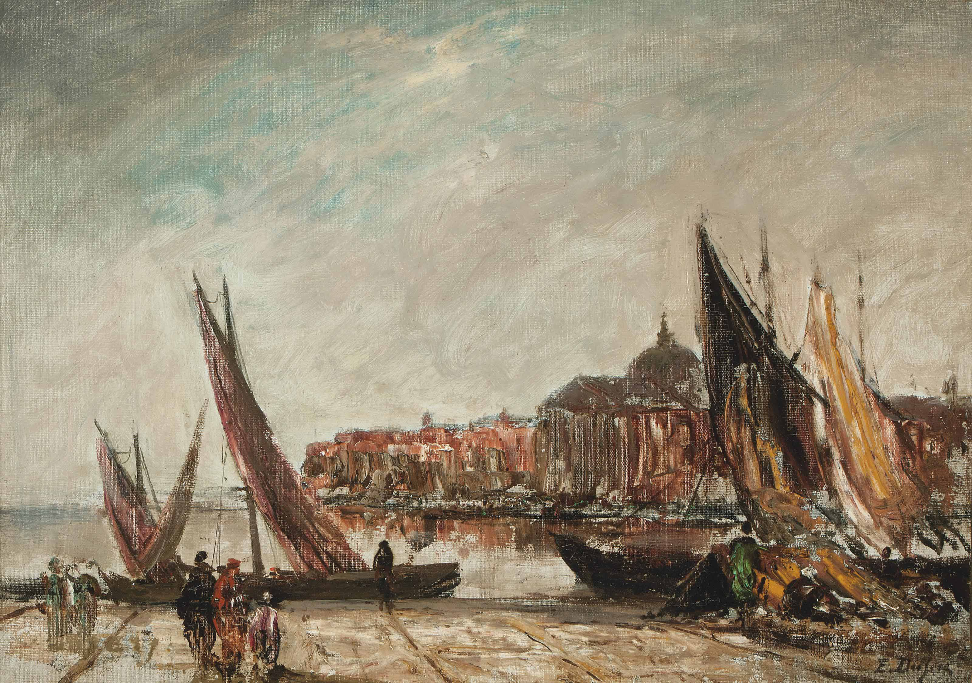 Figures on a Venetian Quay