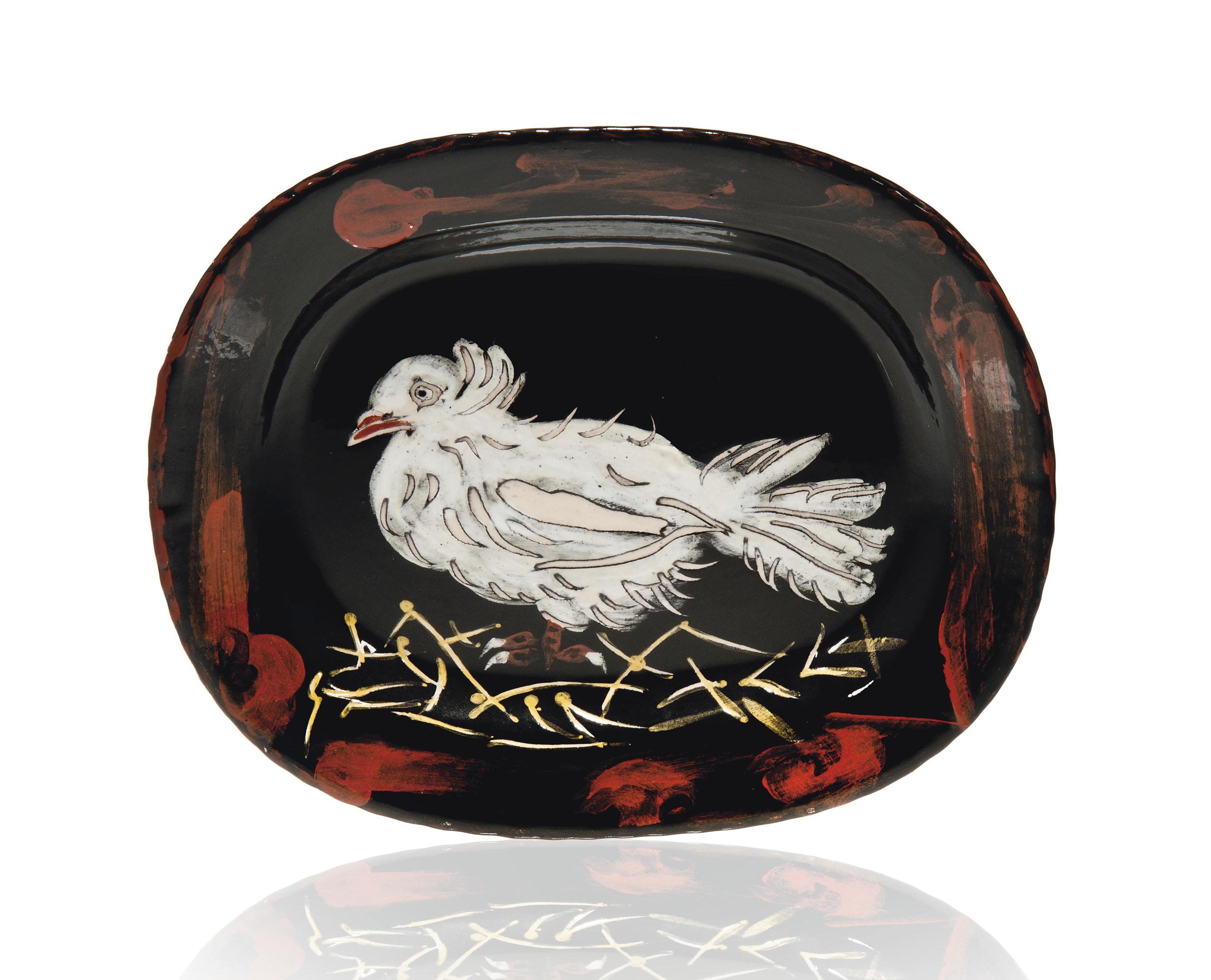pablo picasso 1881 1973 colombe sur lit de paille christie 39 s. Black Bedroom Furniture Sets. Home Design Ideas