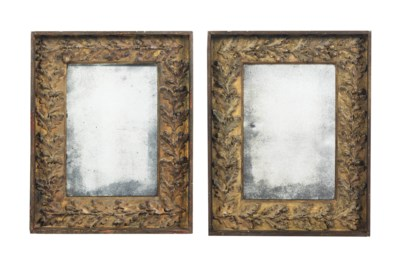 A PAIR OF FRENCH GILTWOOD PICT