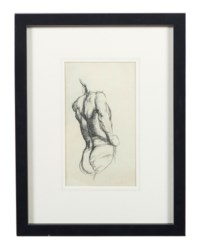 A study of a male nude