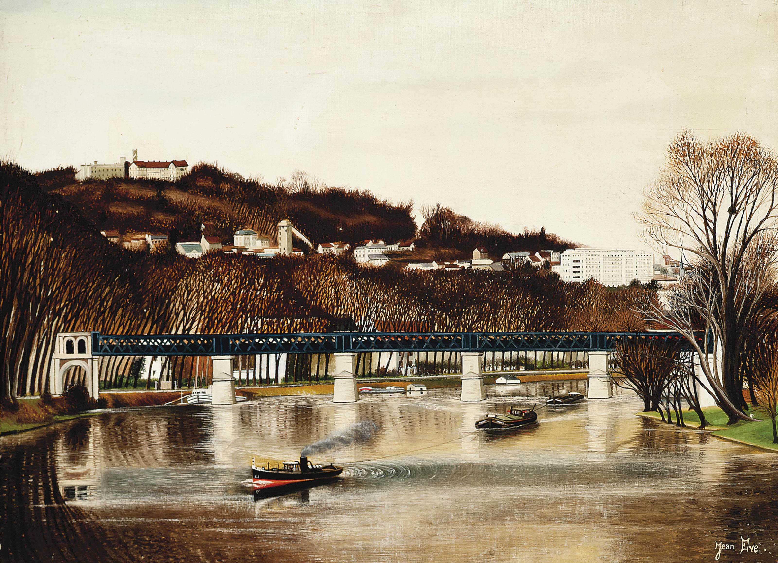 Tug boats on the Seine