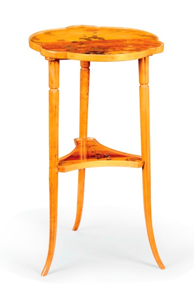 AN EMILE GALLÉ MARQUETRY TWO-T