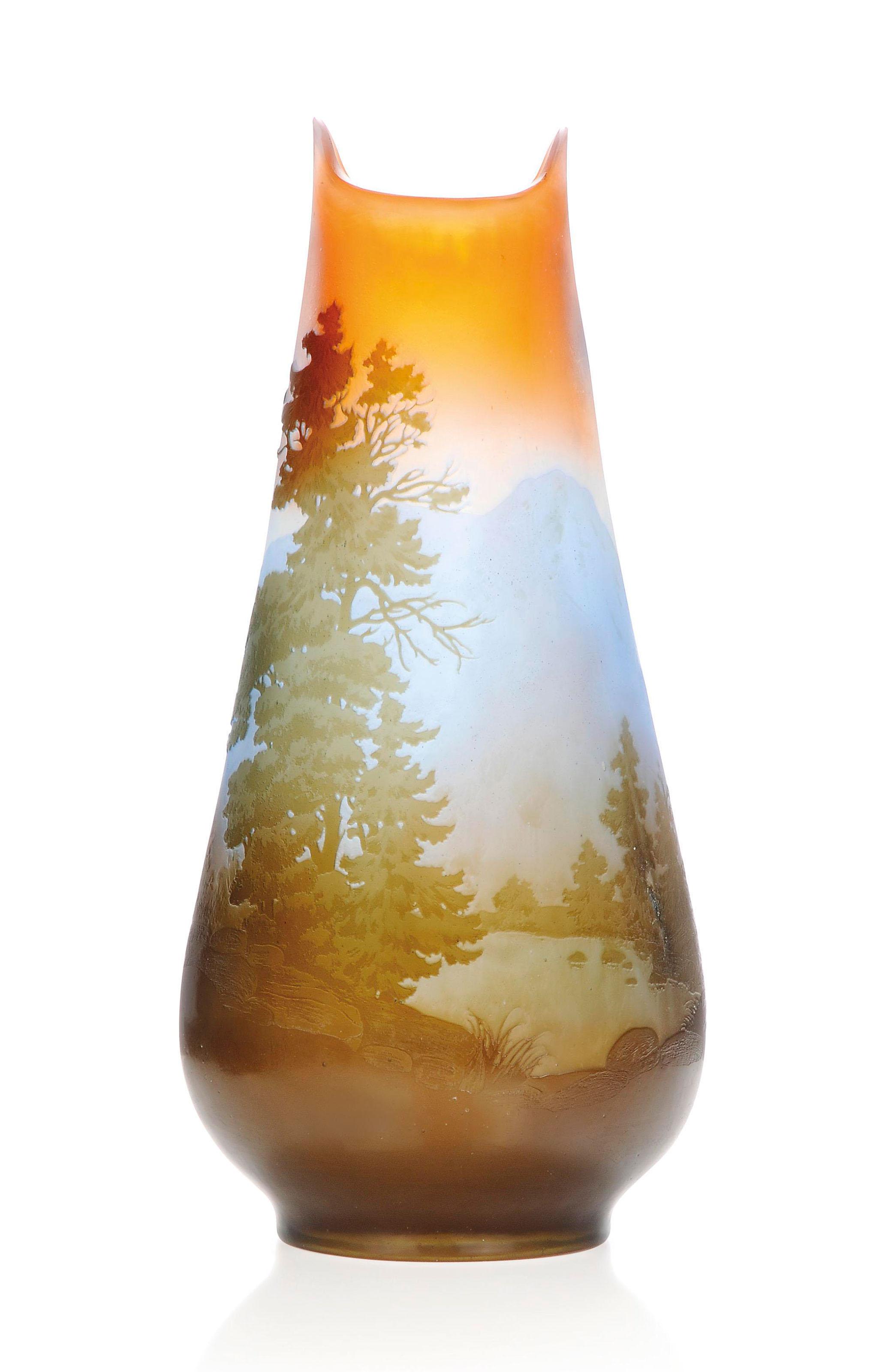 A GALLÉ CAMEO GLASS LANDSCAPE